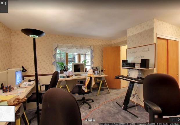 Sede original do Google pode ser vista no Street View (Foto: Reprodução/Google)