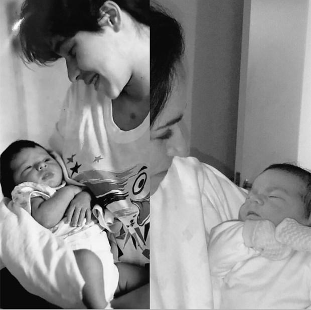 Mel com a mãe, Giovana Póvoas, e com a avó Daniela Mercury  (Foto: Reprodução/Instagram)