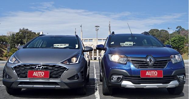 Hyundai HB20x e Renault Stepway (Foto: André Schaun)