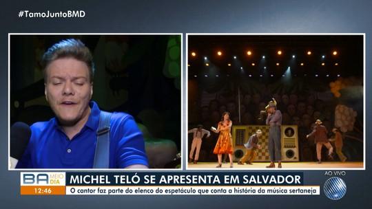 Michel Teló apresenta espetáculo 'Bem Sertanejo' no Teatro Castro Alves, em Salvador