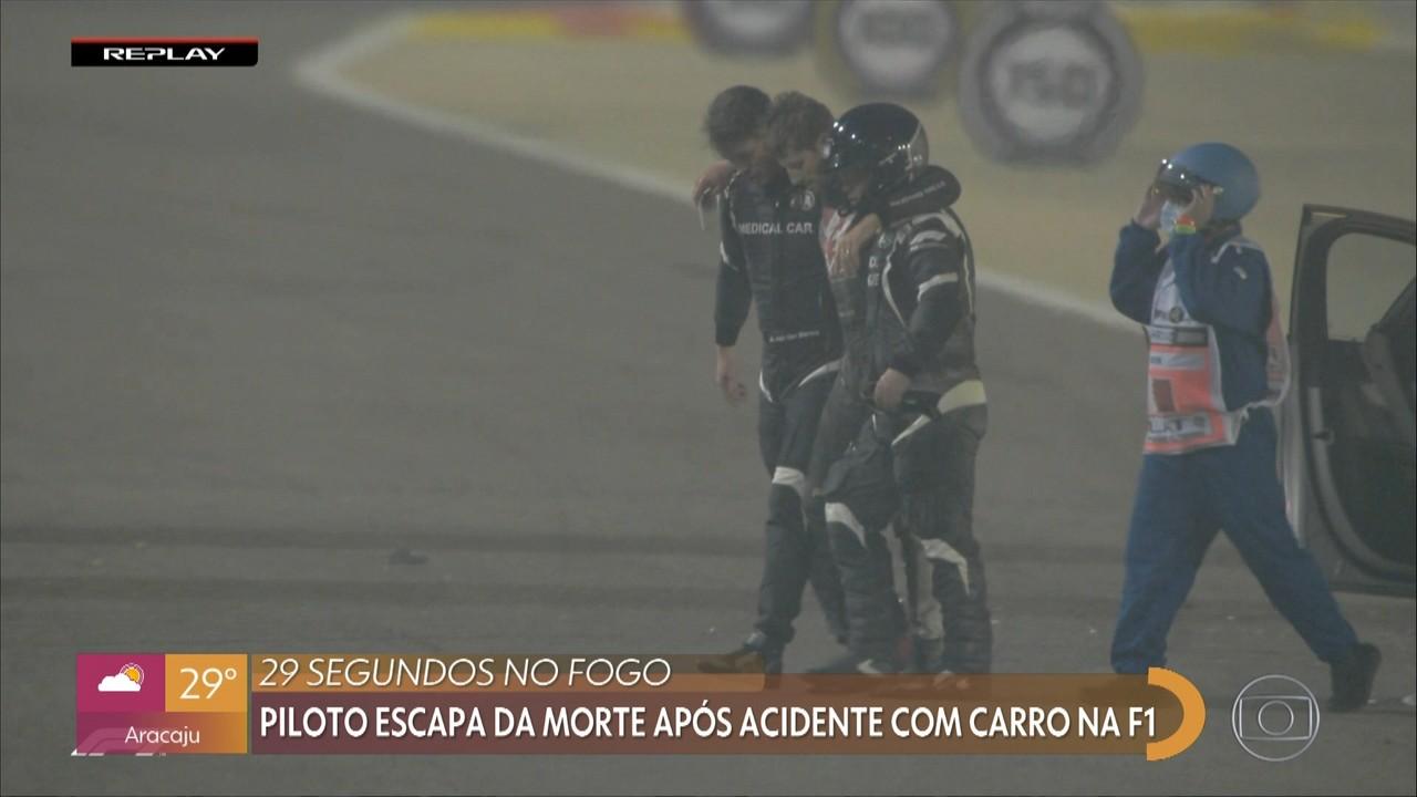 Piloto escapa da morte após acidente com carro na F1