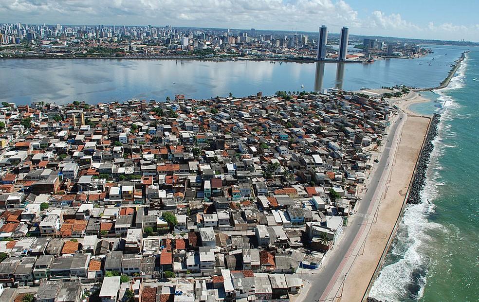 Vista aérea da Zona Sul do Recife (Foto: Paulo Lope /Prefeitura do Recife)