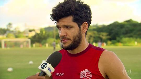 """Ortigoza comemora fim do jejum no Náutico: """"Não tava na fase boa"""""""