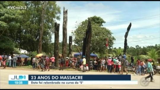 Ato em Eldorado dos Carajás, no Pará, relembra 23 anos de massacre