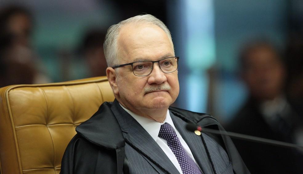 Ministro Edson Fachin durante sessão no plenário do STF em abril (Foto: Carlos Moura/SCO/STF )