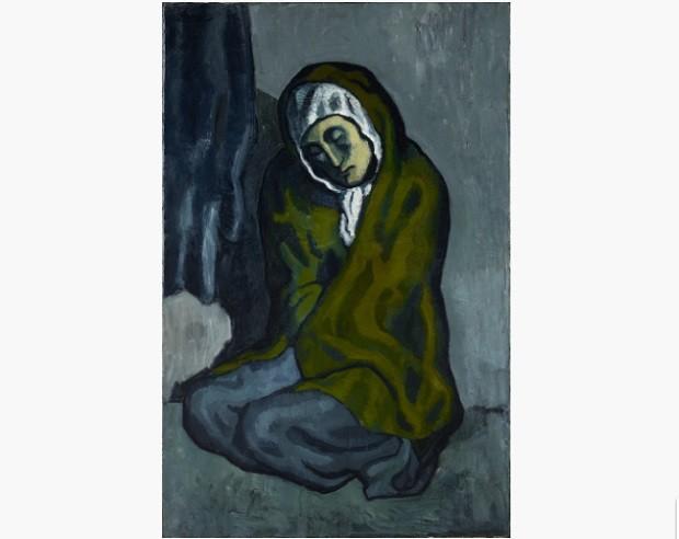 La Miséreuse accroupie, pintura de 1902 de Picasso (Foto: Divulgação Art Gallery of Ontario)