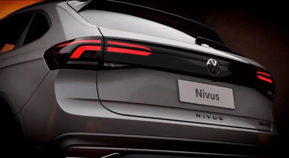 Traseira do Volkswagen Nivus — Foto: Reprodução