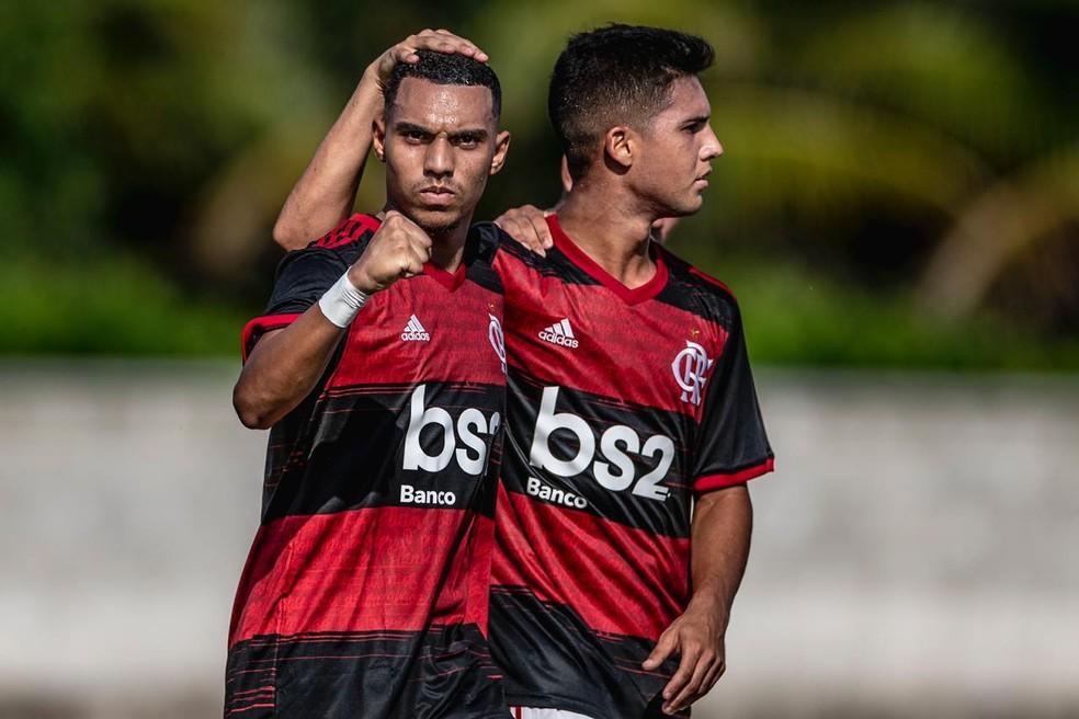 Matheus França e Yuri Oliveira — Foto: Pedro Martins / FotoFC