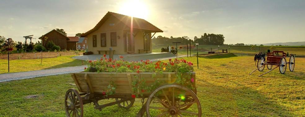 Centro Histórico de Carambeí tem réplicas arquitetônicas da época de colônia — Foto: Adetur/Paraná Turismo