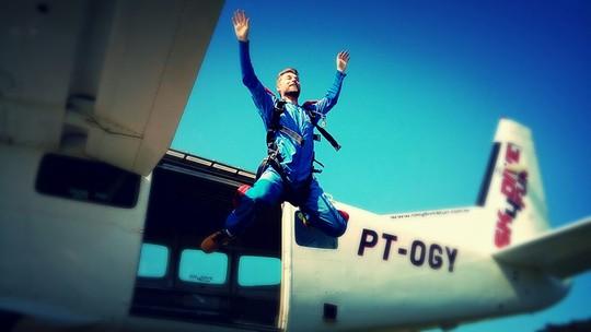 Salto duplo de paraquedas é o desafio do 'Trilhas da Aventura'