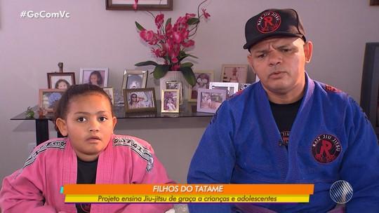 Projeto social ensina jiu-jutsu de graça para crianças e adolescentes em Salvador
