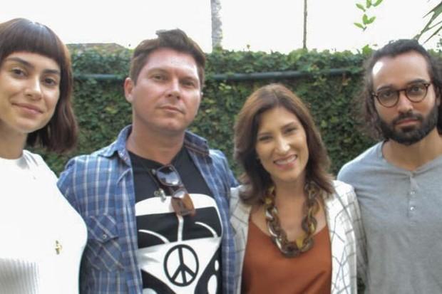Thaila Ayala, Bruno Saglia, Beth Goulart e o protagonista, Vitor Fonsek (Foto: Mariana Catalane/Divulgação)