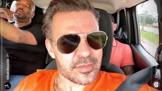 Ônibus e carreta do cantor Eduardo Costa são apedrejados em MT após cancelamento de show