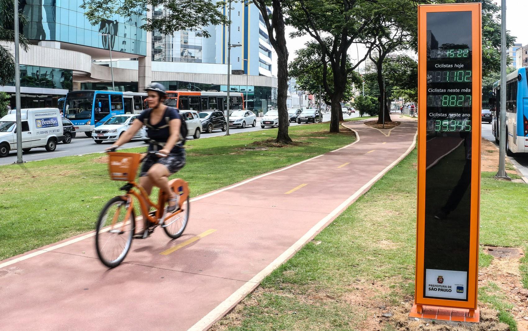 Apesar de ter 1,6 milhão de bicicletas, só 9 mil delas circulam pela cidade de SP todo dia, diz CET
