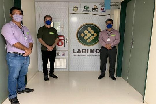 Técnicos serão treinados para trabalhar no laboratório de testagem de covid-19 em Santarém