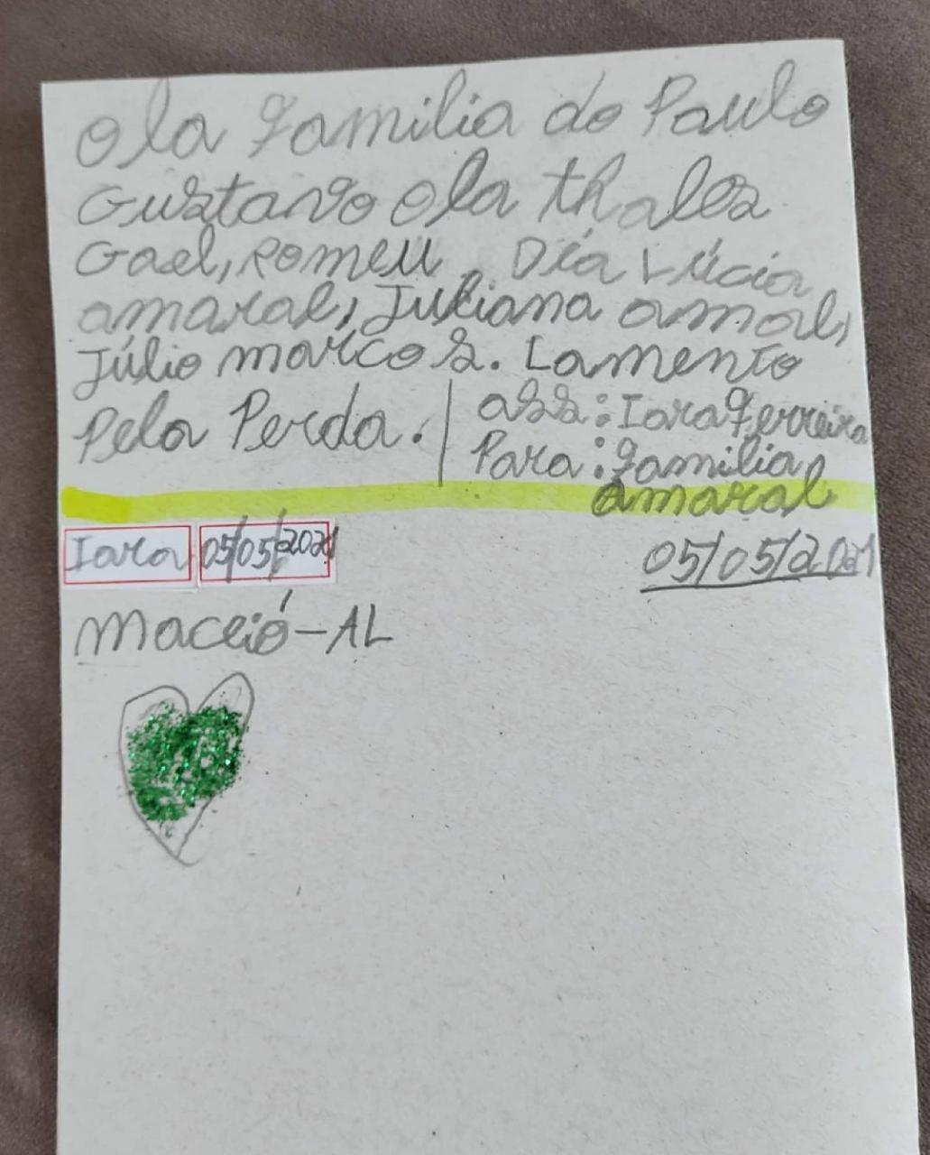 Fã de 10 anos escreve carta para a família de Paulo Gustavo: 'Lamento pela perda'