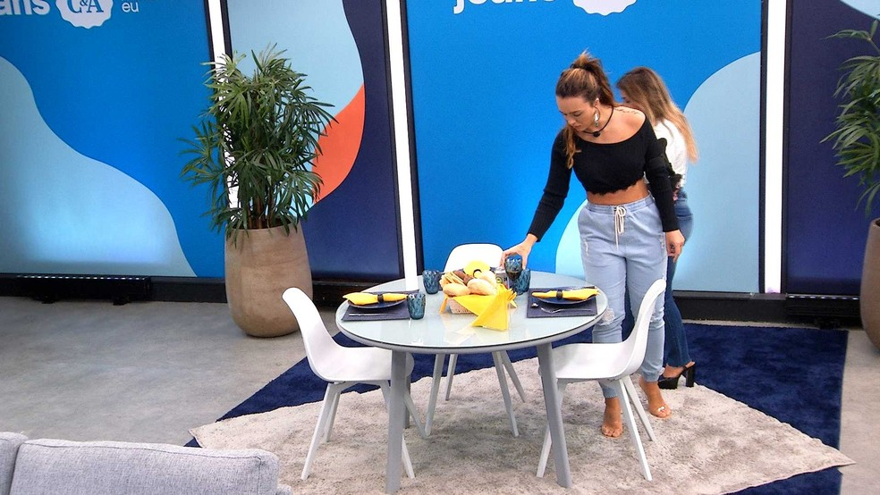 Rafa no Almoço do Anjo C&A — Foto: Globo