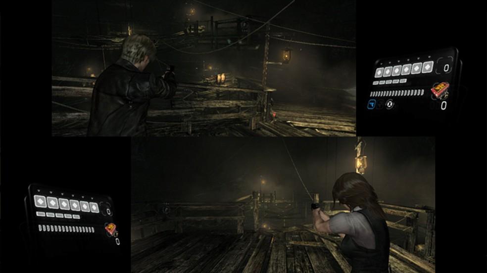 Resident Evil 6 traz modo multiplayer local com tela dividida assim como Resident Evil 5 — Foto: Reprodução/Nintendo
