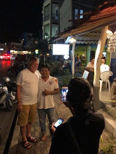 José de Abreu na Tailândia (Foto: Arquivo pessoal)