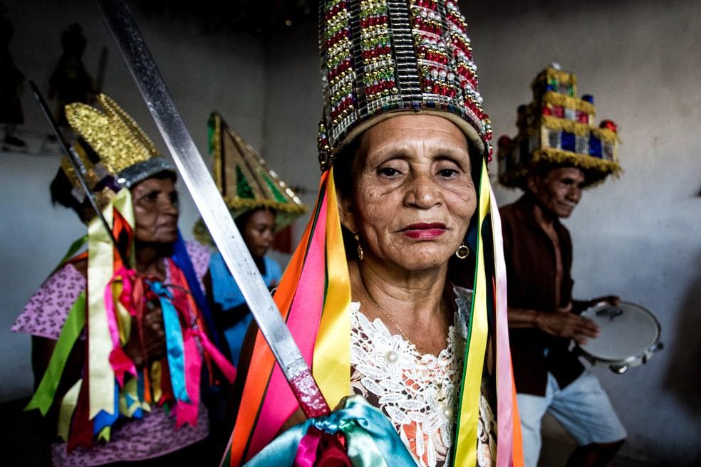 Guerreiro é um dos mais tradicionais folguedos do estado — Foto: Jonathan Lins/G1
