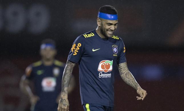 Daniel Alves na seleção brasileira