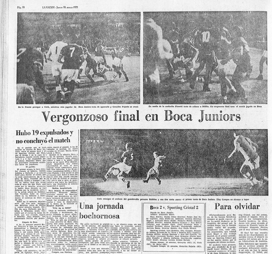 Maior briga da Libertadores completa 50 anos