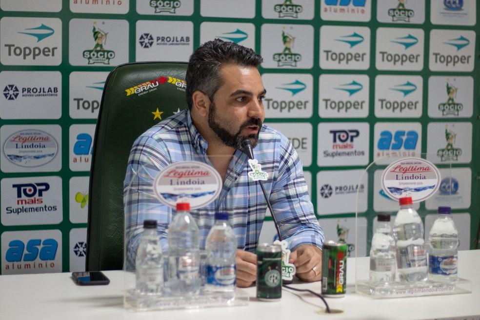 Ricardo Moisés,  presidente do Guarani — Foto: David Oliveira / Guarani FC