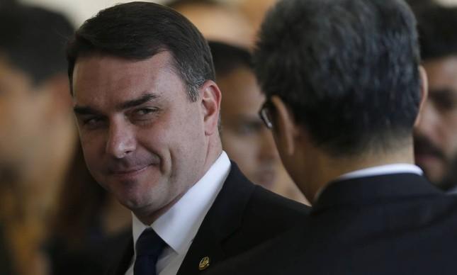 O senador Flávio Bolsonaro
