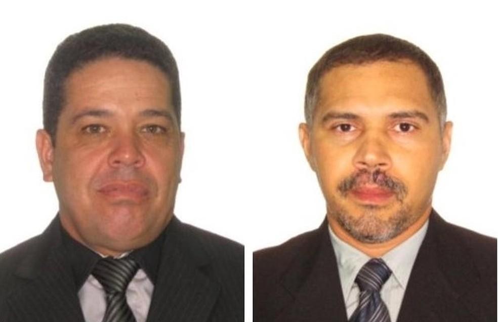 Policiais mortos quando transportavam presos — Foto: Polícia Civil/Divulgação
