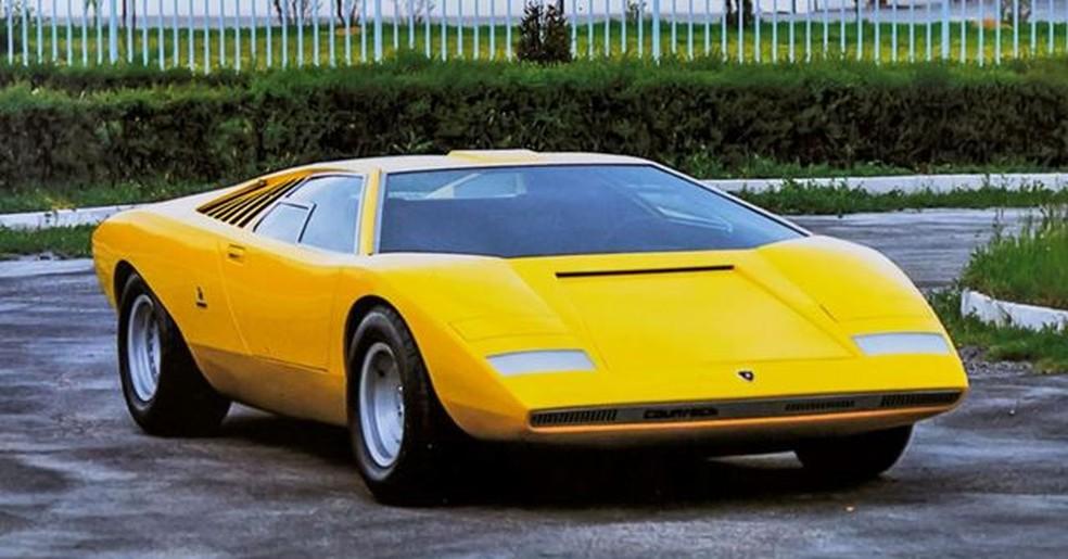 Lamborghini Countach LP 500 1971 — Foto: Divulgação/Lamborghini