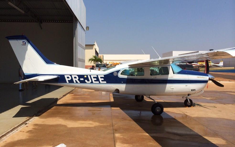 Avião que caiu perto do Campo de Marte, na Zona Norte de São Paulo — Foto: Reprodução
