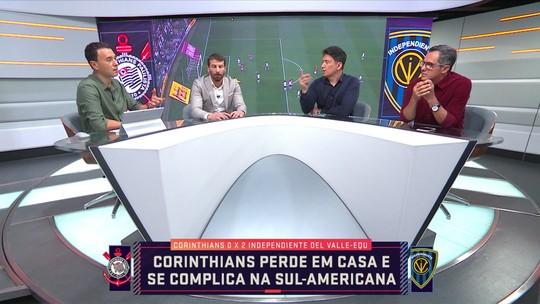 """Comentarista fala sobre a derrota do Corinthians na Sul-Americana e diz: """"Foi um choque de realidade"""""""