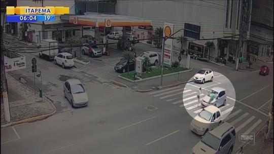 Morre mulher atropelada na faixa de pedestre em Itapema