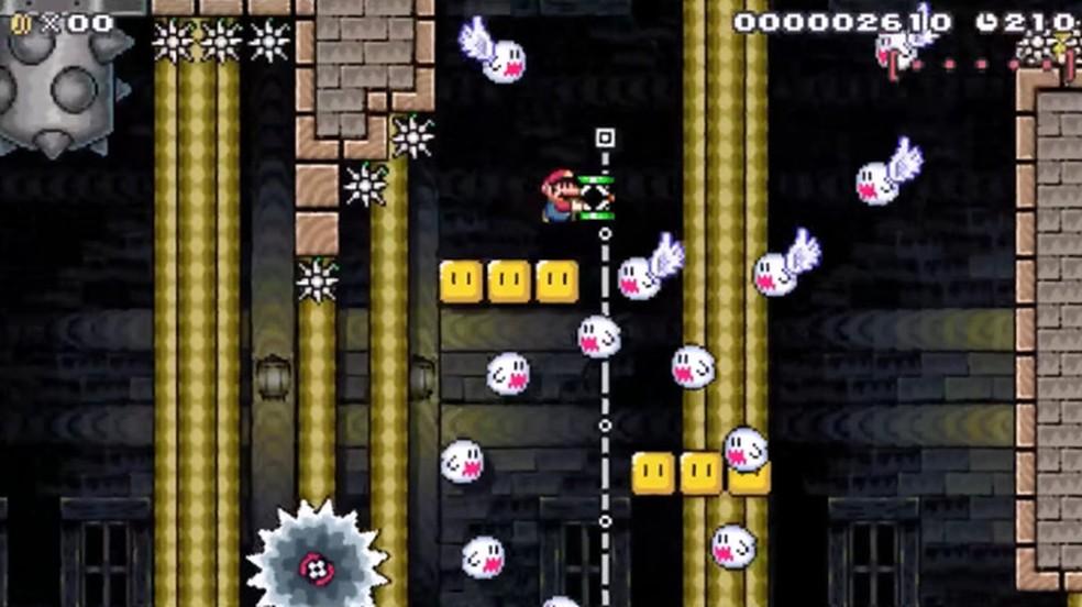 Fail's Flotilla: Final Flight é uma das fases mais bizarras e difíceis de Super Mario Maker (Foto: Reprodução)