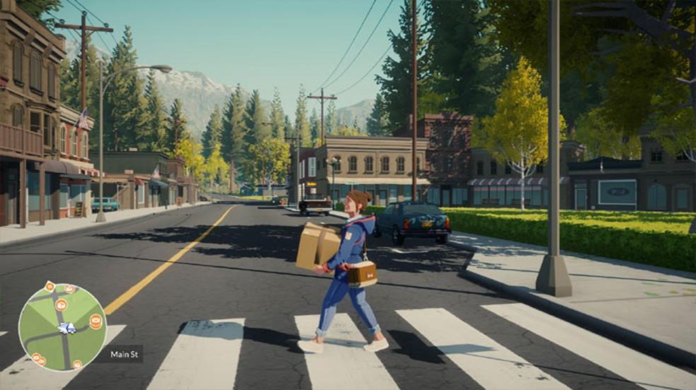Lake é um game focado em narrativa sobre a jornada pessoal de Meredith, que decide trabalhar como carteira na pequena cidade onde cresceu — Foto: Reprodução/Steam