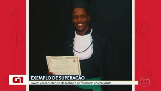 Jovem que perdeu pai, irmão e tio para o tráfico dá volta por cima e conquista diploma