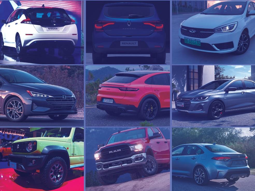 Carros esperados para o 2º semestre de 2019 — Foto: Arte: Juliane Souza/G1