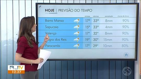 Meteorologia prevê dia de sol quente e com possibilidade de chuva no Sul do Rio
