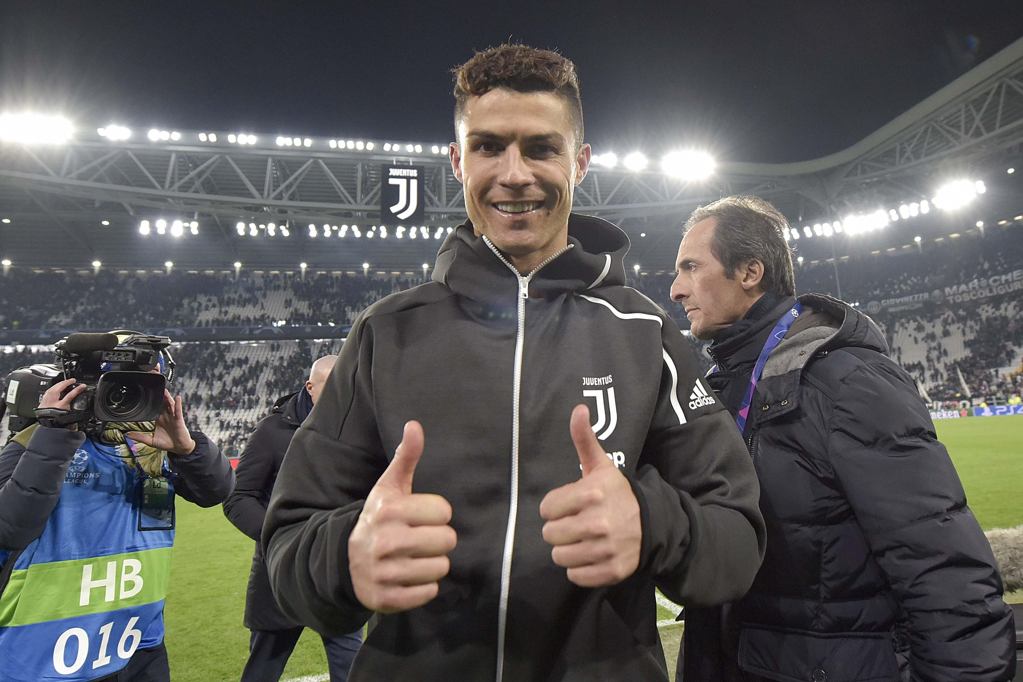 Cristiano Ronaldo após a heroica classificação da Juventus sobre o Atlético de Madrid na Liga dos Campeões da Europa; O robozão anotou mais um hat-trick em sua carreira e fez história (novamente) (Foto: Foto: Getty Images)