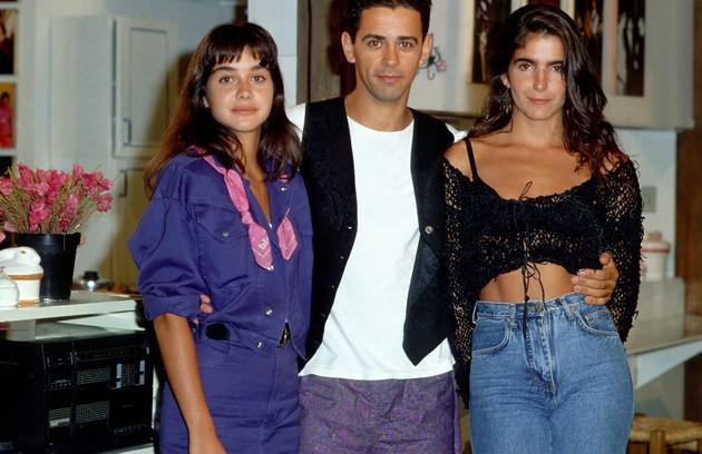 Em 'Top model', com Alexandra Marzo e Taumaturgo Ferreira (1989) (Foto: Divulgação)