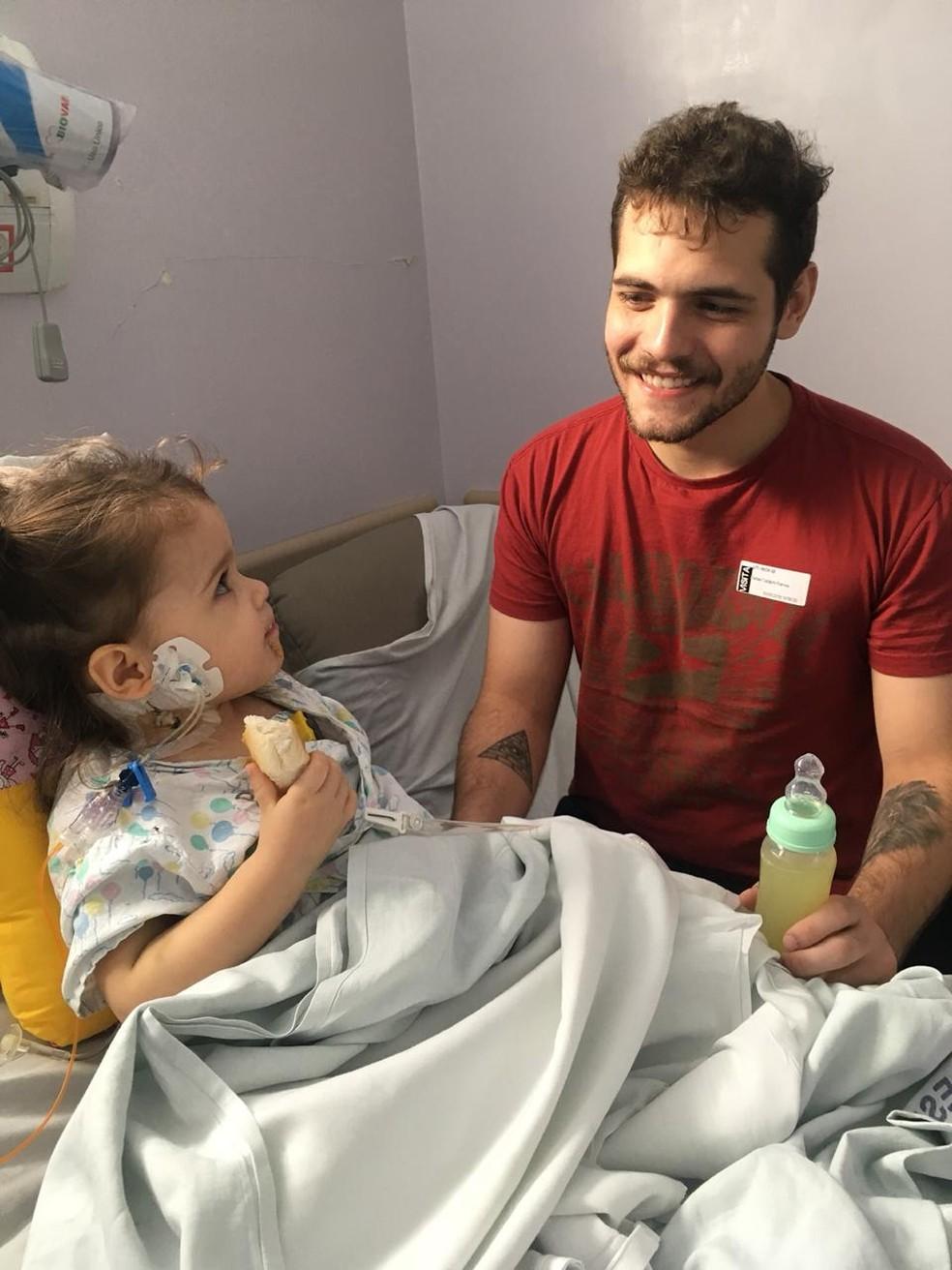 Pai salva a vida de filha de dois anos com transplante de fígado em SP — Foto: Arquivo pessoal