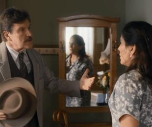 Antonio Calloni e Gloria Pires em 'Éramos seis' | Reprodução