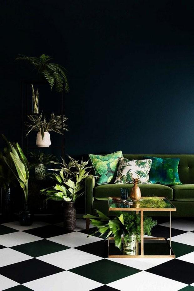 Como decorar a sala de estar com plantas (Foto: Reprodução/Divulgação)