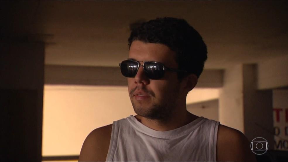 Em entrevista ao Fantástico, Lucas Soares Fontes negou as acusações de fraude para ser aprovado no concurso público do INSS — Foto: Reprodução/TV Globo