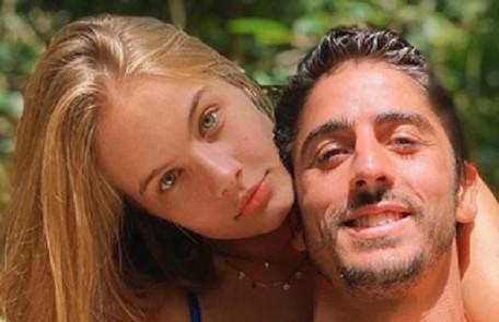 Valentina Bulc começou o namoro com o empresário Felipe Palermo em março. Eles estão juntos na casa dela: 'São meses muito intensos. Mas a gente se dá bem' Arquivo pessoal