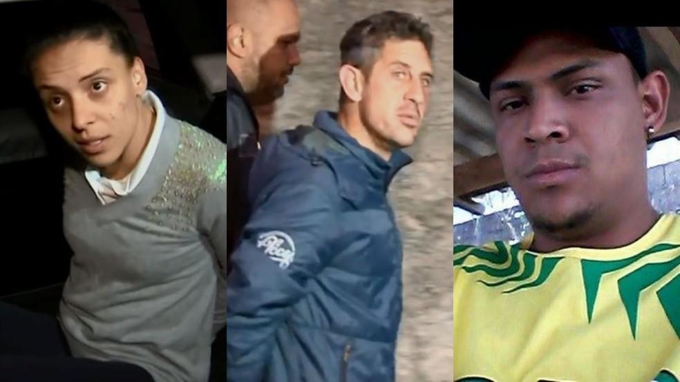 Mayara (à esquerda), Bruno (meio) e Júlio (à direita) foram indiciados pela morte de Vitória (Foto: Arquivo pessoal)
