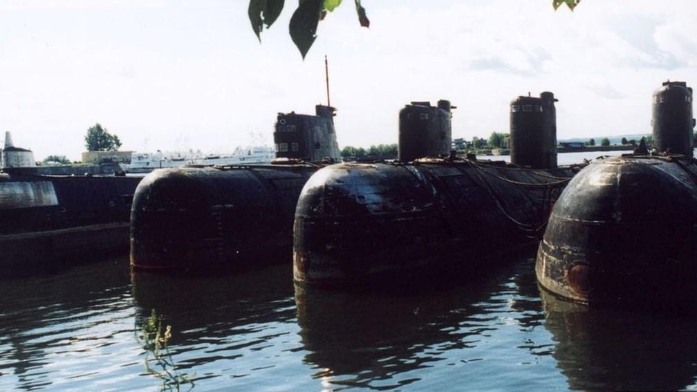O K-159 é um dos muitos submarinos soviéticos que ainda estão presentes nas águas do Ártico — Foto: Getty Images via BBC