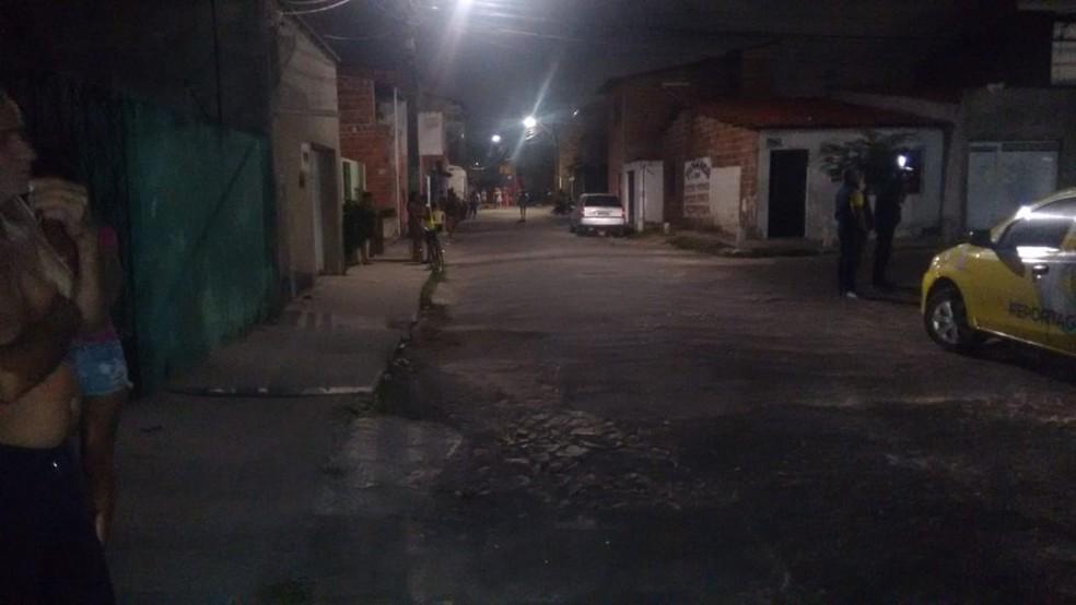 Crime foi registrado no Bairro Boa Vista em Fortaleza. — Foto: Ricardo Mota/TV Diário