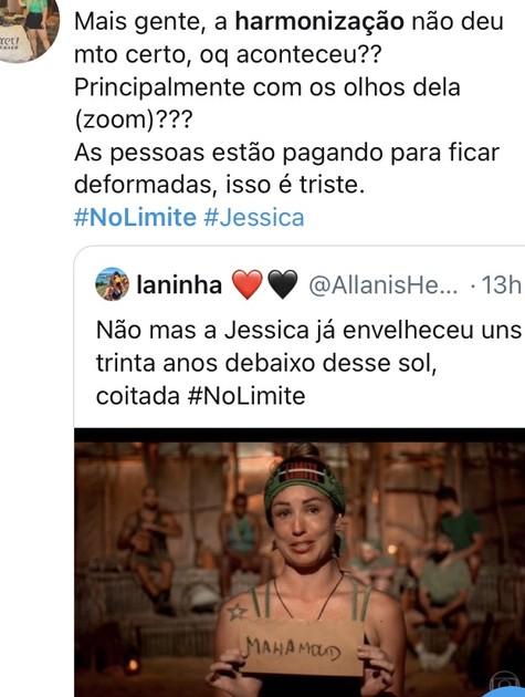 'No limite': Jéssica foi uma das mais citadas na web (Foto: Reprodução)