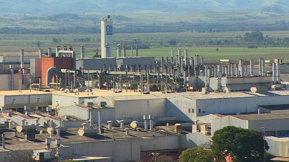 GM emprega cerca de 5 mil trabalhadores no parque industrial de São José dos Campos — Foto: Reprodução/TV Vanguarda